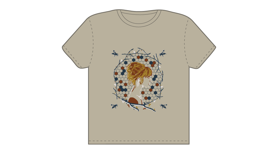 The Beehive T-shirt Layout